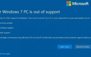 微软在2009年发行的Win7系统于2020年1月14日正式停止支持