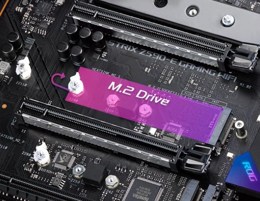 华硕主板安装M.2 SSD已去掉拧螺丝