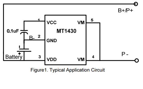 MT1430电池组保护芯片的数据手册免费下载