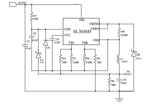 SL3036H开关降压型DCDC转换器的数据手册免费下载