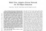 一种端到端的单阶段多视图融合3D检测方法MVAF-Net