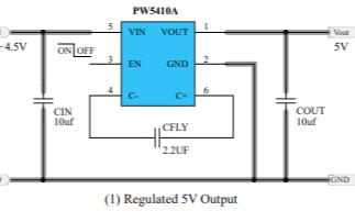 PW5410A开关电容倍压器的数据手册免费下载
