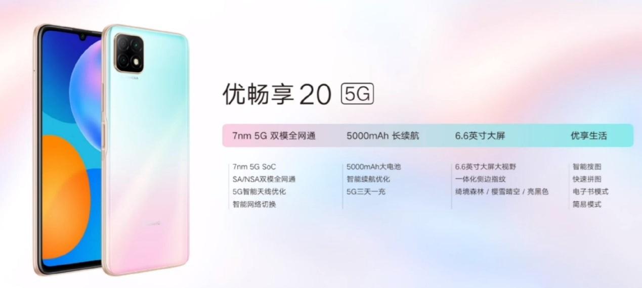 联通两款5G新机优畅享20/20 Plus正式发布