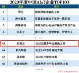 机智云入选2020年度中国AIoT企业TOP100榜单