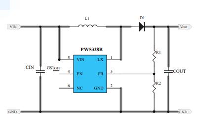 PW5328B升压电流型PWM变换器的数据手册免费下载
