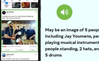 新AI让盲人知道在Facebook上共享的图像是什么样的