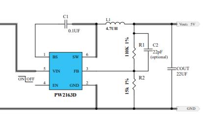 PW2163D同步降压变换器的数据手册免费下载