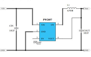 PW2057同步降壓變換器的數據手冊免費下載