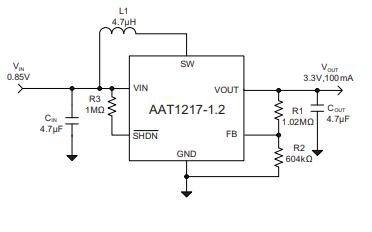 AAT1217同步升压变换器芯片的数据手册免费下载