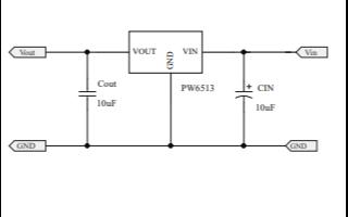 PW6513高输入电压LDO线性稳压器的数据手册免费下载