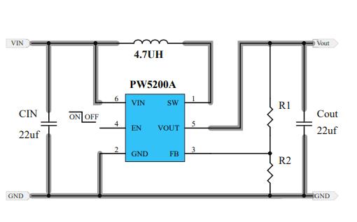 PW5200A和PW5200C高效率升压DCDC稳压器的数据手册免费下载