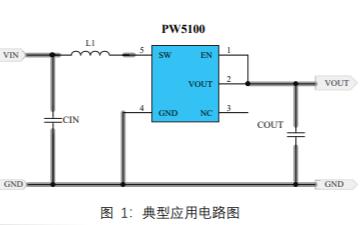 PW5100开关电流高效率同步升压变换器的数据手册免费下载