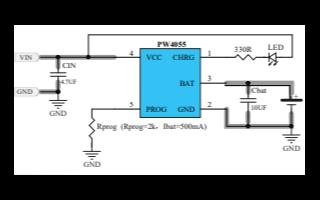 PW4055热调节锂离子电池充电器的数据手册免费下载