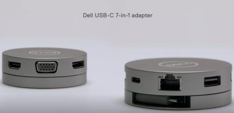 戴尔推全新的七合一USB-C移动适配器