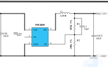 PW2058和PW2059同步降壓變換器的數據手冊免費下載