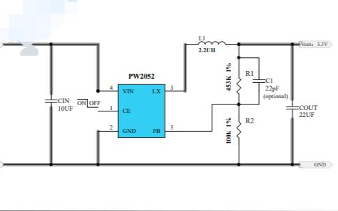 PW2052同步降压调节器的数据手册免费下载