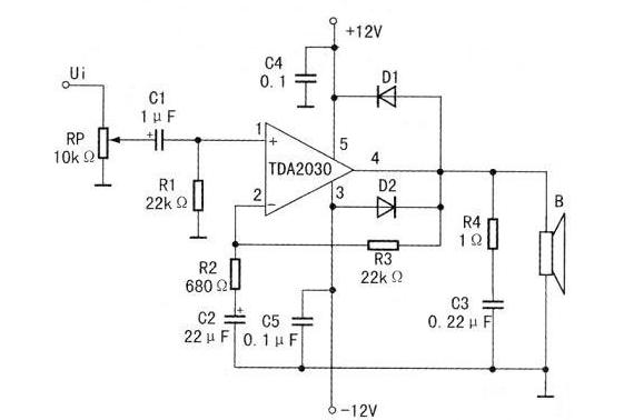 用TDA2030组装的高保真功率放大器方案