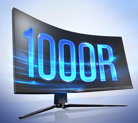 微星推1000R曲面2K带鱼屏显示器