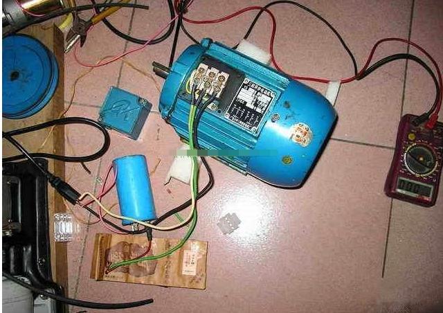三相电机改单相电机电容接线方法