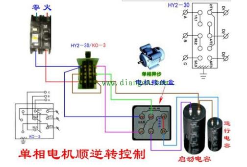 单相电动机双电容接法_单相双值电容异步电动机接线图