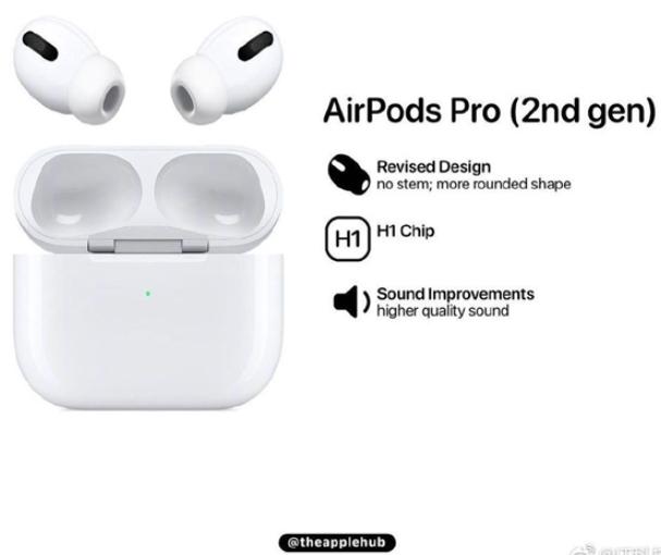 苹果新一代AirPods Pro渲染图
