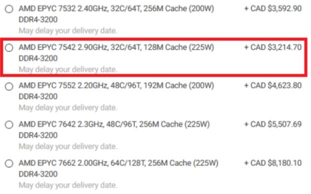 AMD三代霄龙Milan7003处理器规格与报价...