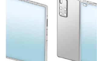 华为全新折叠屏设计专利曝光,采用了内折叠的设计
