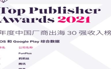 App Annie最新发布了2020年度中国厂商的出海榜单