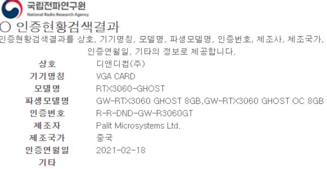 曝RTX 3060显卡有8GB显存