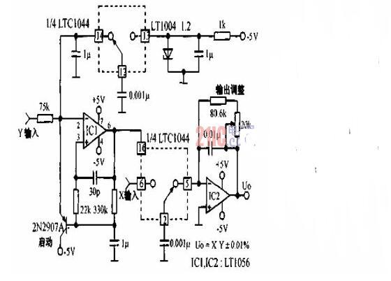 模拟乘法器电路图