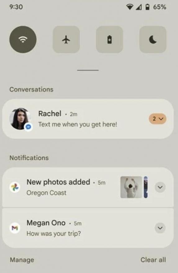 Android 12锁屏、通知界面UI曝光