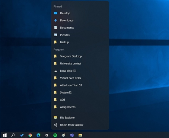 Windows 10 21H2的开始菜单/任务栏变化