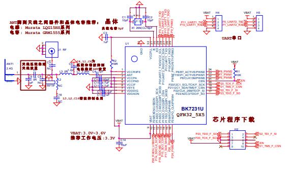 BK7231U芯片的数据手册免费下载