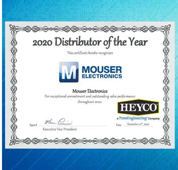 貿澤電子榮獲Heyco年度全球最佳分銷商稱號