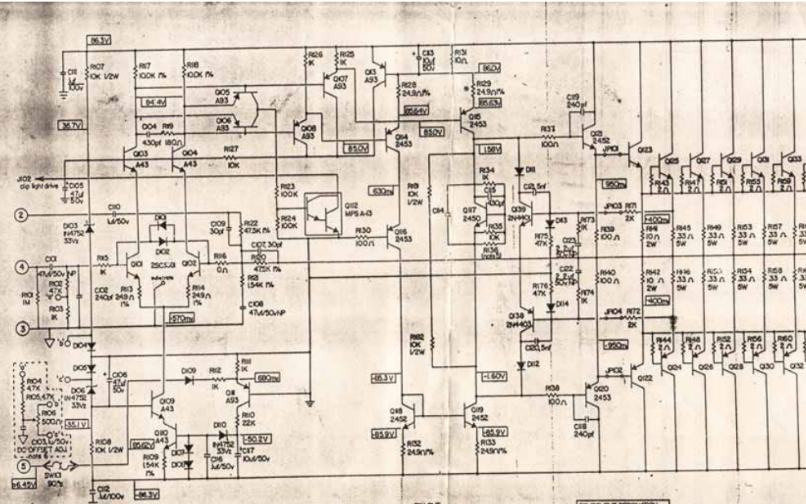 BGW750音响功率放大器的电路原理图免费下载