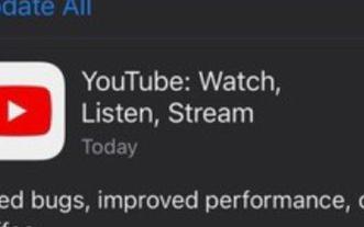 Google更新了适用于iOS操作系统的YouTube应用