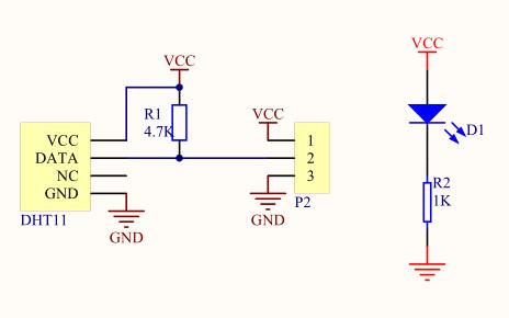DHT11数字温湿度传感器的参考资料包括了数据手册和原理图等