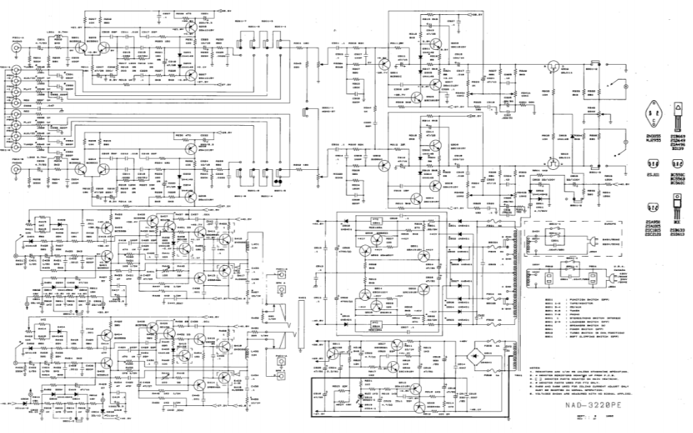 NAD 3020E和3220PE功率放大器电器原理图及线路板图资料合集