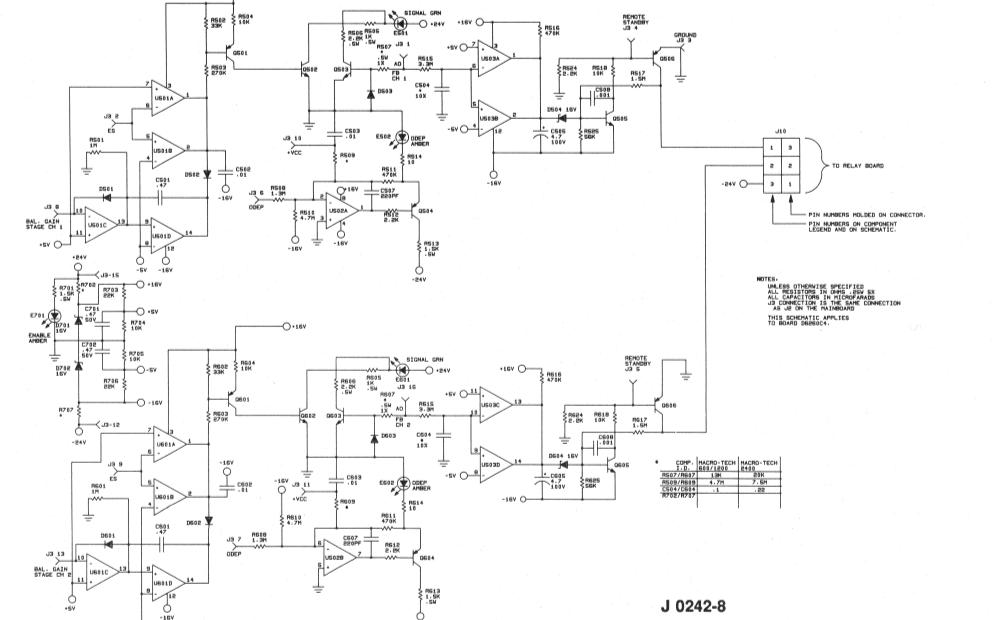 皇冠600功放音响的电路原理图免费下载