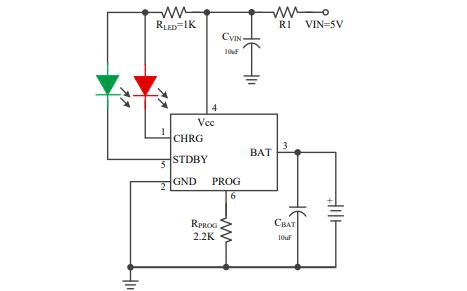SD8067线性锂离子电池芯片的数据手册