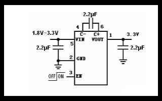 HU3031D低噪声稳压电荷泵DCDC变换器