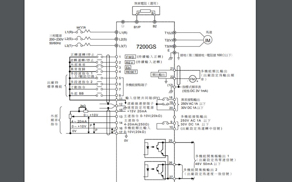 东元7300PA变频器的使用手册免费下载