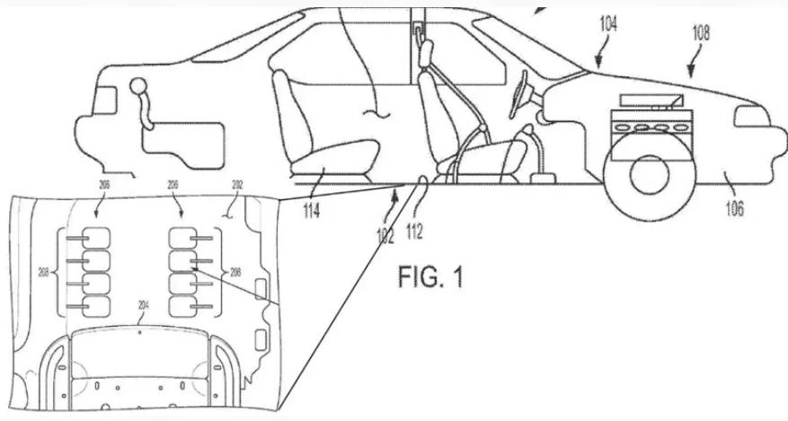 通用汽车申请汽车足部按摩系统相关专利