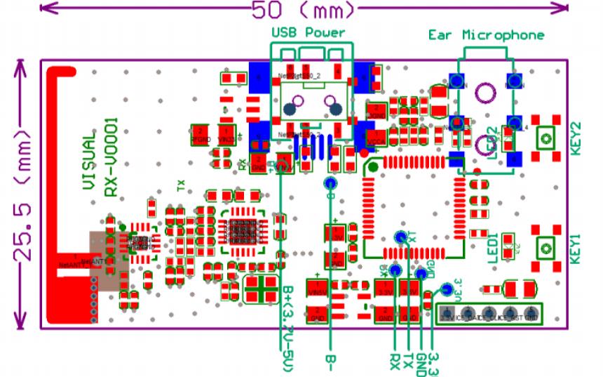RX-VO001全雙工數字音頻對講模塊的中文資料詳細說明