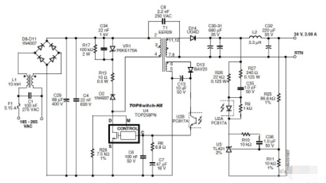 基于TOP258PN器件实现隔离反激式电源的设计