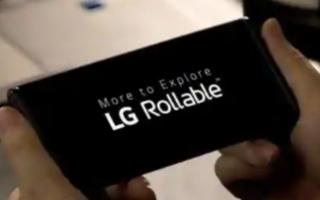 LG在1月的CES 2021上展示了其首款可卷曲智能手机