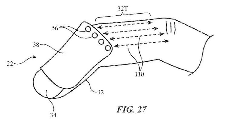 蘋果AR/VR可穿戴手指操控裝置設計專利搶先看