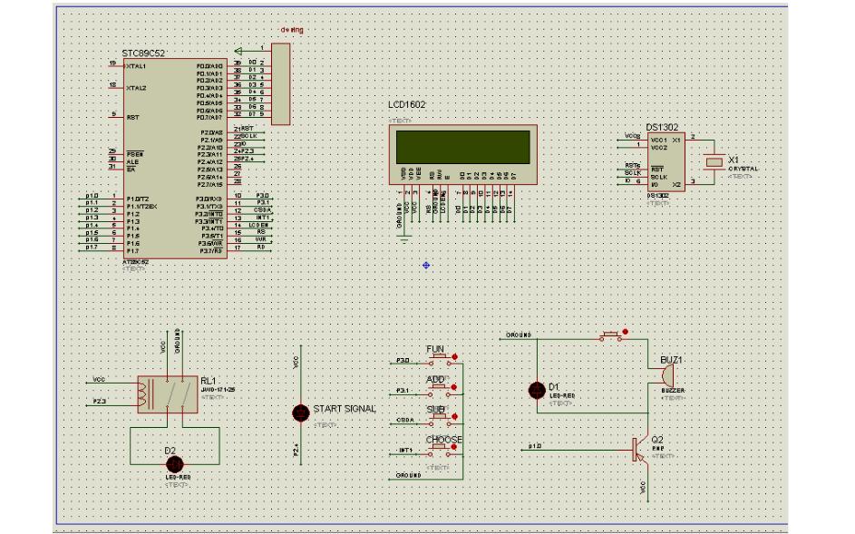 使用STC89C52单片机和DS1302时钟芯片实现定时开关的设计与仿真