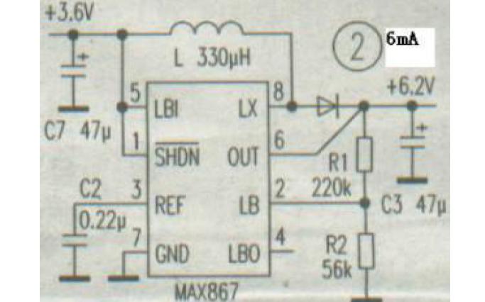 小功率DC-DC升压器电路原理图免费下载