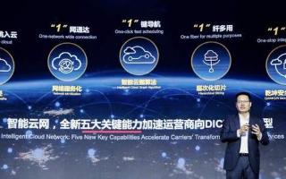 华为最新发布了智能云网解决方案